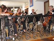 The Oberon String Quartet playing at Frederick's Restaurant Restaurant