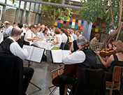 The Oberon String Quartet playing at Frederick's Restaurant